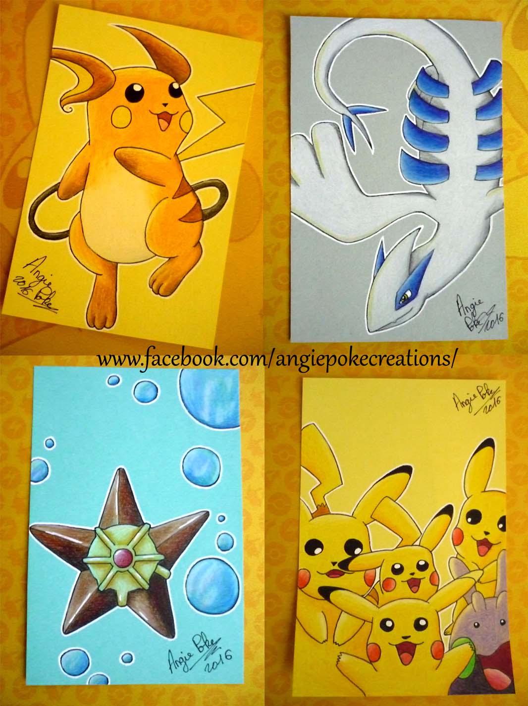 Dessins Pokemon Raichu Pikachu Lugia Angie Poke Créations